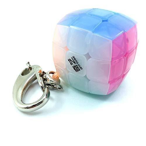 Level25 Llavero 3x3x3 Velocidad Colores Jelly. Cubo 3x3 mágico Cube Puzzle Regalo Original