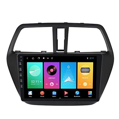 Per Suzuki S-cross 2014-2017 Autoradio 2 DIN Android 9 Car Stereo IPS HD Touch Screen,Supporto GPS Navigation Mirror Link Radio FM RDS Compatibile con DAB, OBD2 videocamera posteriore,M150,2+32G