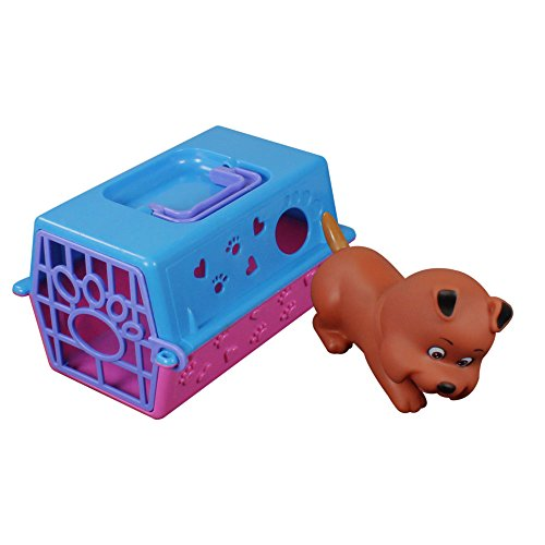 com-four® Hunde-Transportbox mit Spielzeug Hund, Lernspielzeug auch für andere Kuscheltiere wie Katze, Maus und Hase