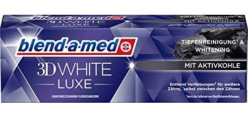 Blend a Med 3D White Luxe Zahncreme mit Aktivkohle, Tiefenreinigung & Whitening, 1 x 75 ml