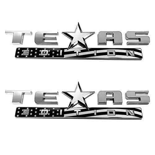 Mr.Brighton LED 1 Count Black+Red 3D Texas Edition Emblem for Chevy Silverado Sierra Car Truck Auto Universal Decal