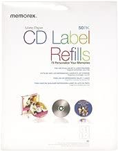 Memorex White CD-R Labels 3202-0412, 50-Count
