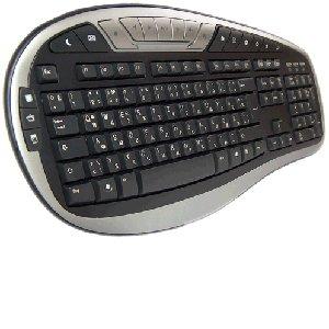 Chicony KU-0512 Tastatur deutsch-russische, USB, MM, black