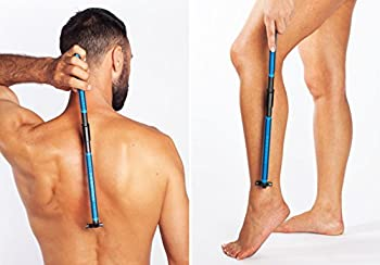 New! EVOLVE Body Razor Back Shaver Leg Shaver Sturdy Folding Handle - 4 cartridges Included - Shave Wet or Dry - Better Control and Won t Cut Your Back Like Larger Blades