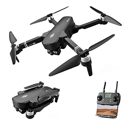 Drone GPS 5G WiFi FPV 6K Fotocamera HD Brushless Selfie 2 Axis Gimbal Pieghevole RC Quadcopter Distanza 2km Volo 28 min per Adulti