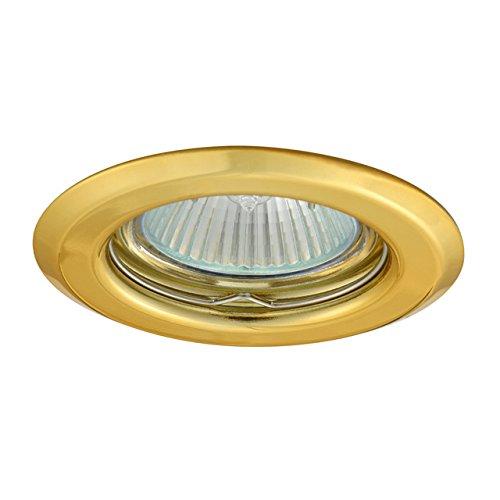 5 focos empotrables dorados, redondos, rígidos, Argus IP20, incluye casquillo GU10 AP