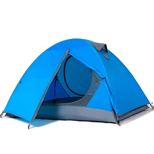 Tienda de campaña, resistente al agua a prueba de viento y sombrilla Tienda de poste de aluminio de dos puertas y doble capa, utilizada para acampar, senderismo, picnic y equipos de salvamento