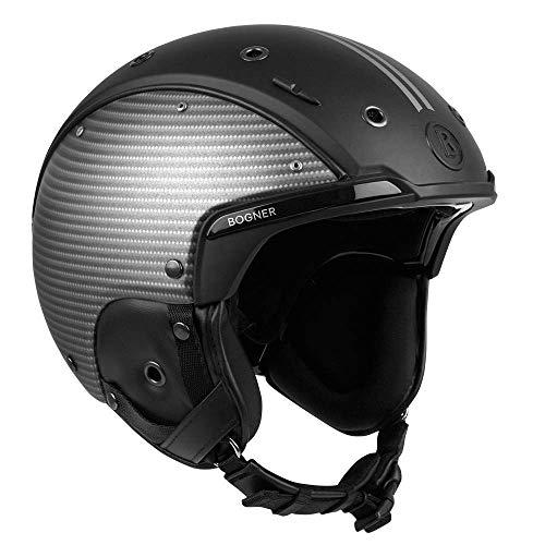 Bogner Helm Fineline | Schwarz Silber | Ski & Snowboard | Hochwertige Qualität | Größe S