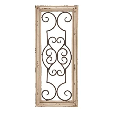 Deco 79 Wood Metal Wall Panel, 25 by 10-Inch