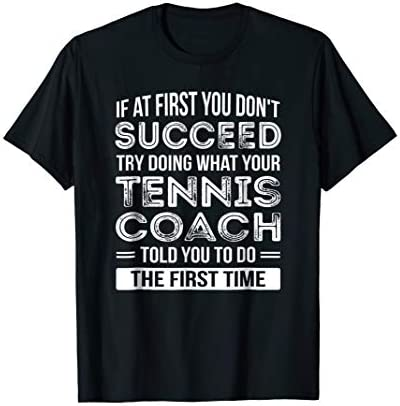 Tennis Coach Gift T Shirt Funny Thank You Gift product image