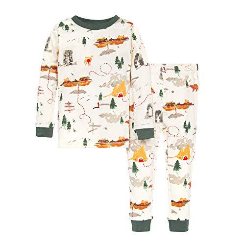 Burt's Bees Baby Baby Boy's Pajamas, Tee and Pant 2-Piece PJ Set, 100% Organic Cotton, Sightseeing, 5 Years