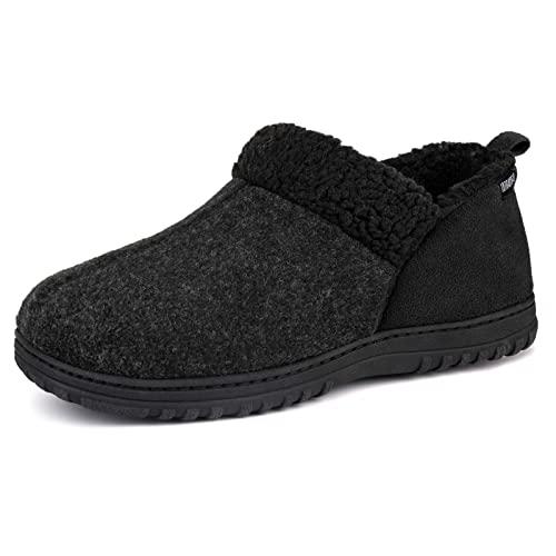 ULTRAIDEAS Zapatillas Cómodas de Casa para hombres,Pantuflas Cerradas de Espuma con Memoría - 43 EU - Gris Oscuro