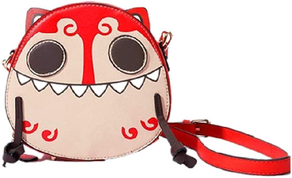 Women Artificial Synthetic Leather Round Cartoon Shoulder Bag, Messenger Bag