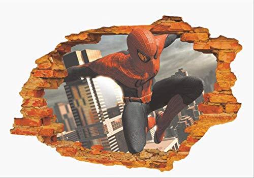 Fotobehang-Spiderman 3d poster 50x70cm slaapkamer decoratieve wandafbeelding