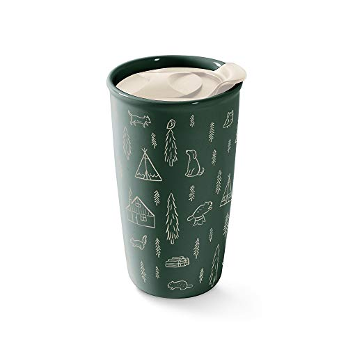 Fringe Studio Camping Ceramic Travel Mug, 12 oz