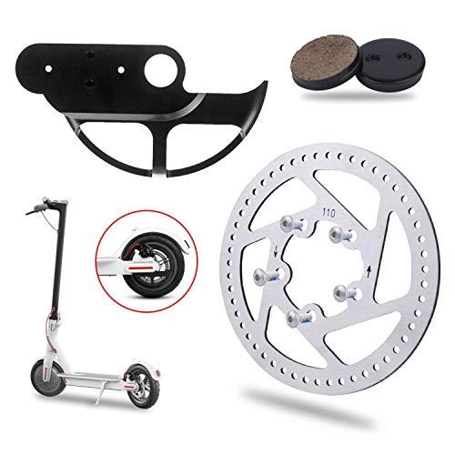 Yungeln 3 Piezas de Repuesto para Scooter, protección de la Cubierta del Disco de Freno, Pastilla de Freno de 110 mm Compatible con Xiaomi 1S / M365 Scooter