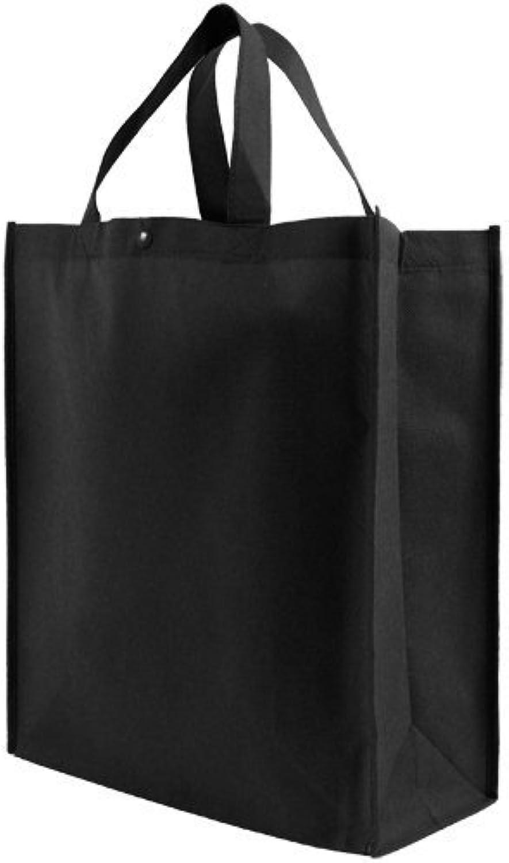 ordene ahora los precios más bajos Reusable Reusable Reusable Grocery Tote Bag Large - negro by Simply verde Solutions  el mejor servicio post-venta