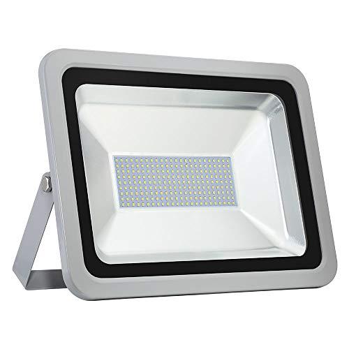 LED Flutlicht Baustrahler 150W - Papasbox 15000LM Strahler Arbeitsleuchte Scheinwerfer Fluter IP65 Wasserdicht, 6500K Kaltweiß, Ideale Wandleuchte Außenbeleuchtung für Garten, Garage, Hotel