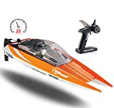 Remote Control Boat, 25 MPH Rc Boats for Adults, Rc Boat for Pools and Lakes, Low Battery & Range Signal, Auto Flip Recovery, Fastest Rc Racing Pool Boat Speed Boat Gift