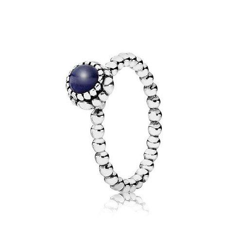 Pandora 190854lp-48Anillo de plata, lapis lazuli Gr 48