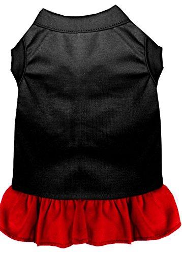 Mirage Plain Jurk voor Hond, XXX-Large, Zwart/Rood