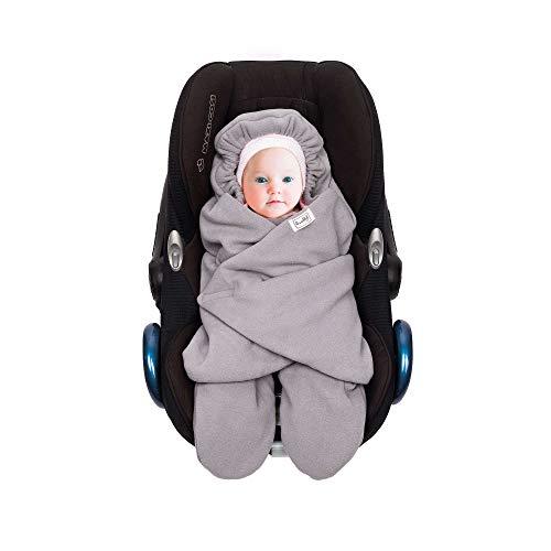 SWADDYL ® Fußsack Einschlagdecke I Baby Wintersack I Babydecke für Babyschale, Kinderwagen - für Winter aus Fleece/Baumwolle (Rosa)
