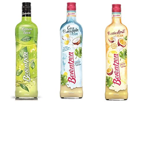 3 Flasche Berentzen Mix Lemon Twist + Berentzen Passionsfrucht cream a 0,7L + Berentzen Coco Pineappel Cream 15% Vol. Klarer + limeted Edition