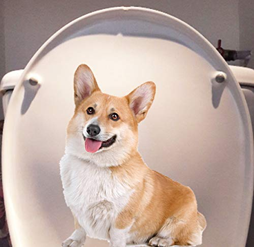 Haustier Hund Corky Home Room Wandtattoos Dekoration Lustige Wc Aufkleber 15x20cm 2St