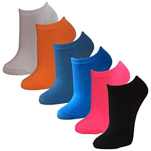 Lavazio® 12   24   36   48 Paar modische Sneaker Socken für Damen in tollen Farben