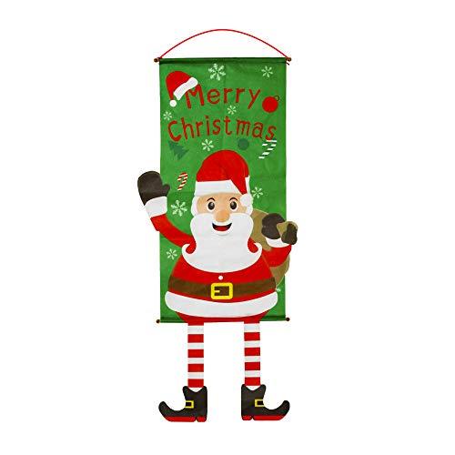 Kraeoke Weihnachten Banner, Weihnachten Hausfahnen Hissflagge Banner Fahnen Indoor Outdoor (Grün)