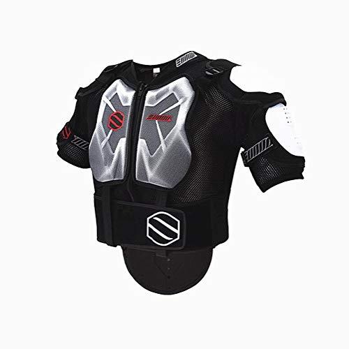 WJH Motorfiets Body Armour, Borstbescherming, Rugbescherming, Gebruik voor MX Motocross, Motorfiets Mountain Fietsen, Schaatsen, Snowboarden, Spine Protector Guard