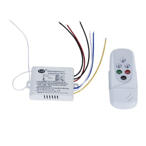3WayON/OFF 220V-240V Luz Digital Inalámbrico Interruptor