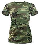 Rothco Women's Longer T-Shirt, Woodland Camo, Small