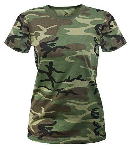 Rothco Women's Longer T-Shirt, Woodland Camo, Medium