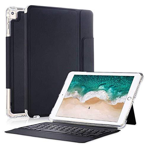 iPad Pro 12.9 Case with Keyboard 2017/2015- Smart Keyboard Folio for iPad Pro 12.9 1st & 2nd Gen,Shockproof Keyboard Case for iPad Pro 12.9 Inch,iPad Pro 12.9 Keyboard Case with Pencil Holder,Black