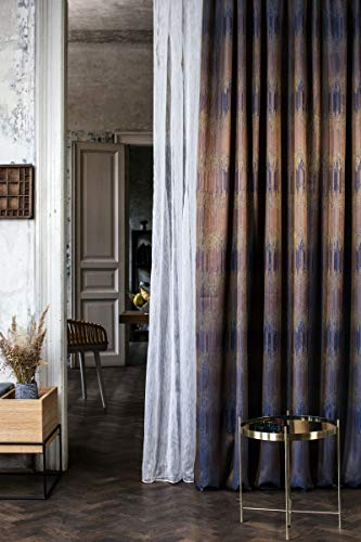 Mendola Home Textiles Tenda a Occhielli, Bianco, 140 x 245 cm