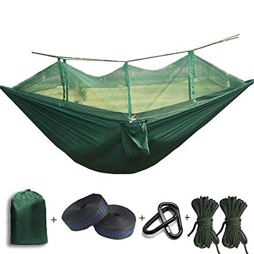 NOBRAND 210T Parachute Mosquito Net Hammock With Black Hooks Outdoor Camping Tent Using Sleeping