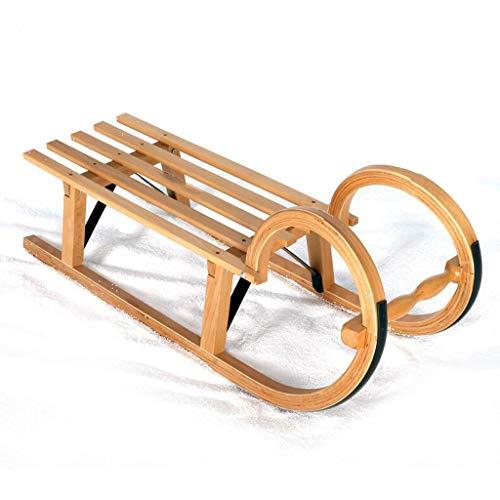 Baby Pull Sled houten peuter To-Boggan houten slee voor kinderen18 maanden tot 5 jaar oud