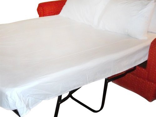 Full Sleeper Sofa Bed Sheet Set White 200 Thread Count (54'x72'x6')