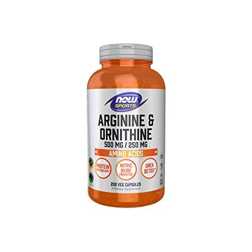 NOW Sports Nutrition, Arginine & Ornithine 500/250 mg, Amino Acids, 250 Capsules