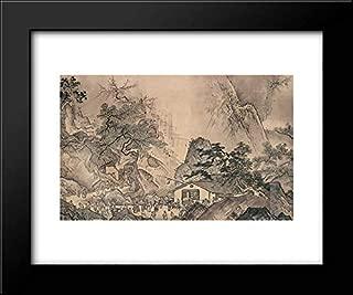 Landscape of Four Seasons (Spring) 24x20 Framed Art Print by Sesshu Toyo