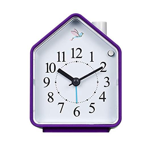 YULAN Despertador Luz de la Noche Mudo Posponer Color del Caramelo Simple multifunción Moda Cabeza de Cama Hogar Personalidad Creativa 83 MM * 55 MM (Color : Purple)