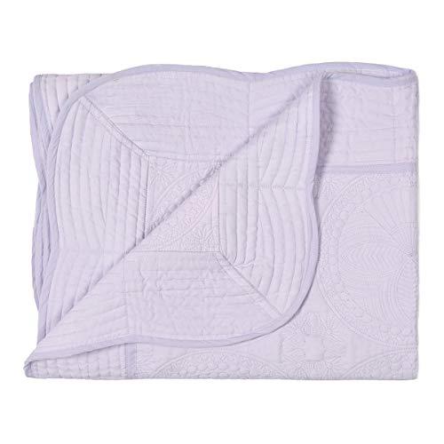 Oussum Luxury Lightweight Nursery Baby Toddler Blanket Newborn Winter Sleeping Quilt (Purple)