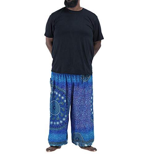 Kapian-e Herren Haremshose Boho Hippie Hose Yoga Hosen Sport Yogahosen Bündel von Bloomers Verlieren Damenbekleidung Beam Laternen Lässige Bedruckte Frauenstil Vereinigten Plus Size beiläufige