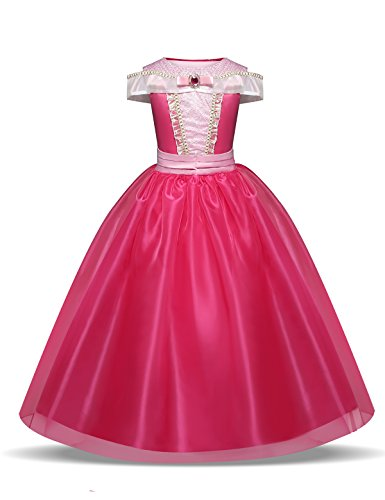 NNJXD Niita Vestido Largo De Fiesta De Cosplay Disfraz De Carnaval para Princesa Tamao(110) 3-4 Aos Rosa roja