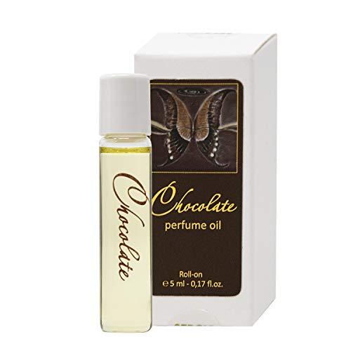 Aceite de perfume Chocolate para Mujeres 5 ml miniatura Roll-on, Fragancia Gourmet Dulce para ella de SERGIO NERO – Perfumería como MAQUILLAJE