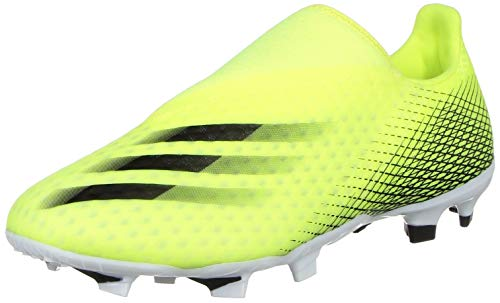adidas X GHOSTED.3 LL FG, Zapatillas de fútbol Hombre, Amasol/NEGBÁS/AZUREA, 39 1/3 EU