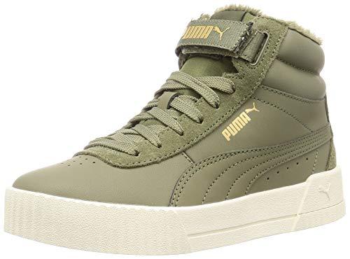 PUMA Damen Carina Mid WTR Sneaker, Burnt Olive-Burnt Olive, 40 EU