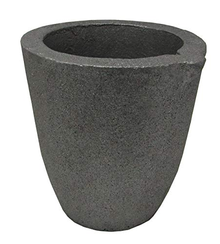 #4-8 Kg Clay Graphite Crucibles Premium Black Foundry Cup Furnace Torch Melting Casting Refining for Gold. Also Great for Silver, Copper, Brass, Aluminum