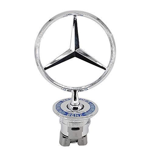 Star Badge Hood Logo, Zinc Alloy Car Frond Hood Ornament Emblem Chrome Eagle Badge 3D Logo For Mercedes Benz C E S W Series Series 1PCS